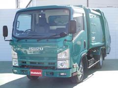 エルフトラック3.0Dターボ プレス式パッカー車 4.3立米 2t積