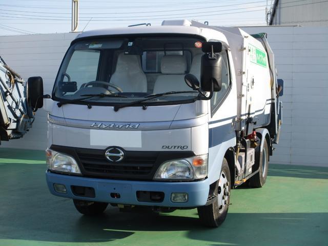日野 4.0DT プレス式パッカー車 4.1立米 2t積