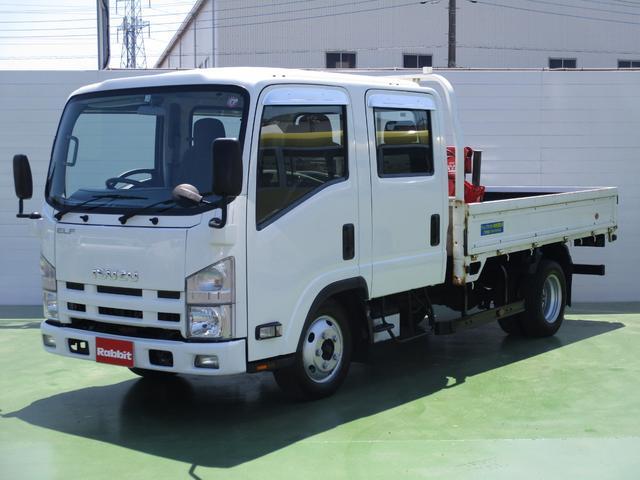 いすゞ 3.0Dターボ Wキャブ1.65t積 3段クレーンラジコン付