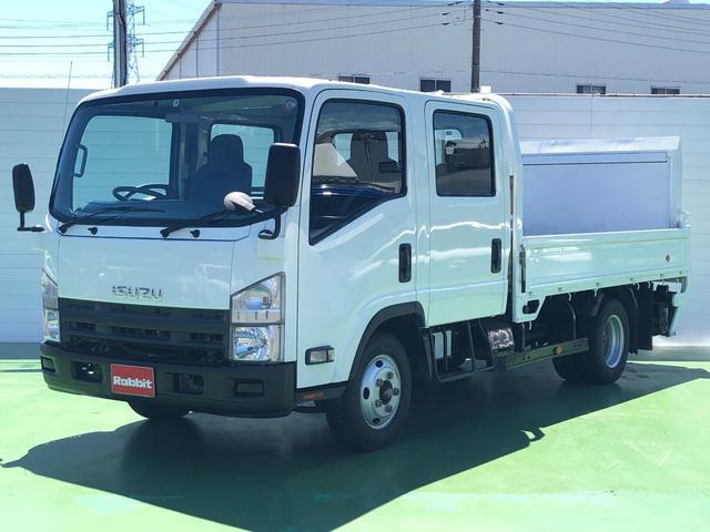 いすゞ エルフトラック Wキャブロング 3.0Dターボ ワイドロング Wキャブ パワーゲート付き 積載2t