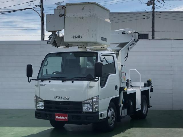 いすゞ エルフトラック  3.0Dターボ 高所作業車 タダノAT-121 11.9m 6速マニュアル HSA ETC 左電格ミラー キーレス