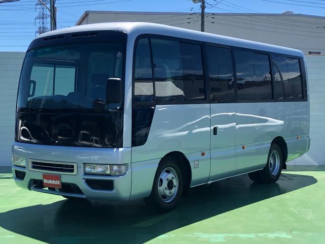 日産 SV 4.5ガソリン車 26人乗り バックモニター 左電動スイングドア オートマ車 左リモコンミラー リアクーラーヒーター
