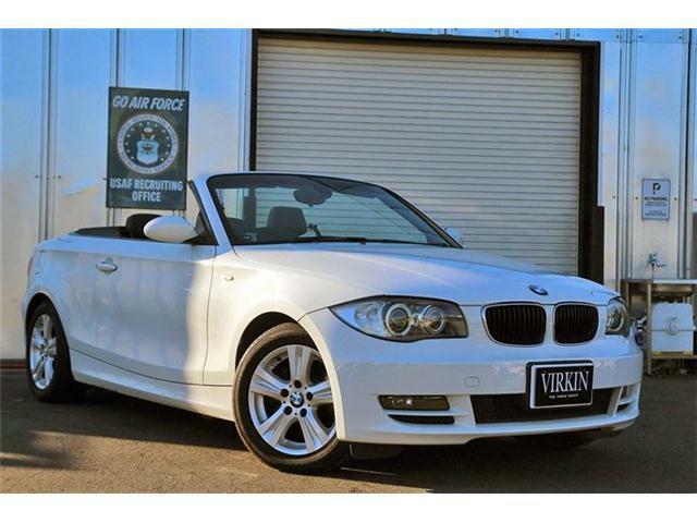 BMW 120i カブリオレ ブラックレザー シートヒーター 社外ナビ 地デジ Bカメラ ETC HIDライト