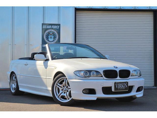BMW 3シリーズ 330Ciカブリオーレ Mスポーツパッケージ ブラックレザー LEDイカリング HIDライト ブラックグリル ETC 17インチアルミ 電動オープン