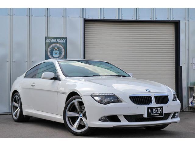 BMW 6シリーズ 630i ブラックレザー サンルーフ クルコン パドルシフト コーナーセンサー HIDライト 19インチAW idriveナビ ETC シートヒーター