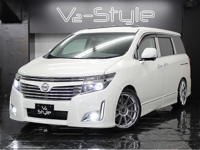 日産 250HWS両側電動S サンルーフ Aビューモニター 車高調