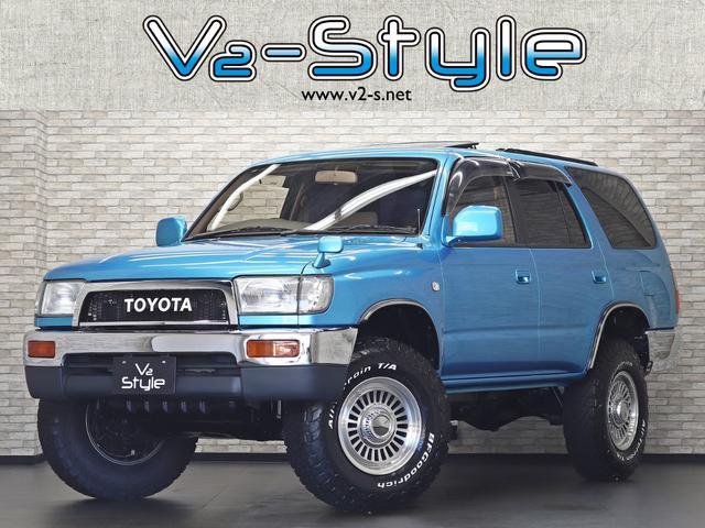 トヨタ ハイラックスサーフ SSR-X ワイド サンルーフ クラシックナロー仕様 TOYOTAオリジナルグリル 2インチリフトアップ 新品DEANCalifornia16インチAW 4WD