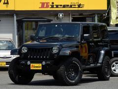 ジープ・ラングラーアンリミテッドサハラ アングリーフェイス2インチUPディーラー車1ナンバー