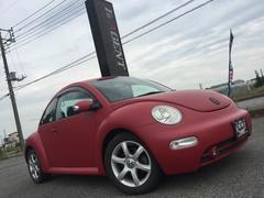 VW ニュービートルベースグレード フルラッピング 社外ナビ ETC付