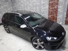 VW ゴルフRヴァリアント禁煙車 黒革 DiscoverPro LaneAssist