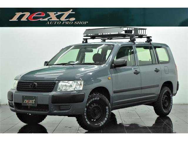トヨタ UL 4WD メモリーナビ Bluetooth リフトアップ ブラックアウトホイール 新品マッドタイヤ 新品ルーフラック アウトドアカスタム