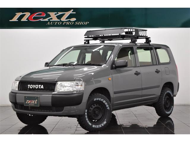 トヨタ  4WD 社外メモリーナビ 地デジTV フルセグ ETC リフトアップ 新品ルーフラック ブラックアウトホイール マッドタイヤ アウトドアカスタム