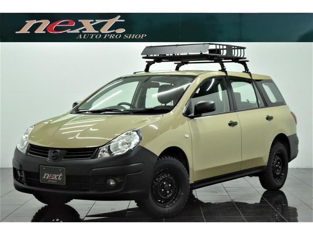 日産 GX 4WD ナビ 地デジTV フルセグ ETC ドラレコ ルーフラック マッドタイヤ ブラックアウトホイール アウトドアカスタム