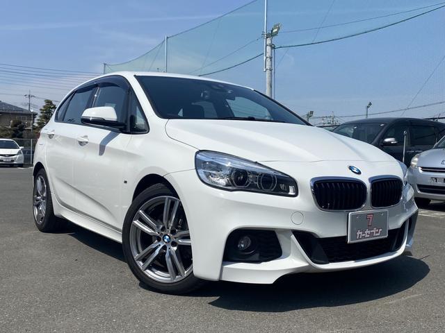 BMW 218dアクティブツアラー Mスポーツ ワンオーナー 禁煙車 インテリジェントセーフティ 歩行者警告 レーンディパーチャーウォーニング 純正HDDナビ バックカメラ リアクリアランスソナー アイドリングS スマートキー ディーラー記録簿