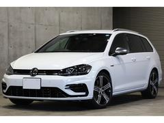 VW ゴルフRヴァリアント4WD LEDヘッドライト ACC 黒革 純正18AW