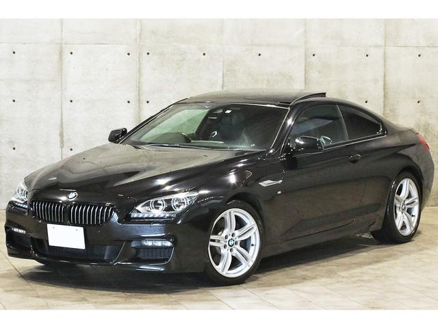 BMW 640iクーペ MスポーツPKG スーパースプリントマフラー ガラスサンルーフ アダプティブLEDライト 19インチAW 黒革シート シートヒーター iDriveナビ フルセグTV バックカメラ ドライビングアシスト