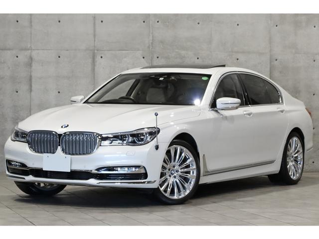 BMW 740i デザインピュアエクセレンスP リアエンタメ リアコンフォートPKG リアエンターテインメント サンルーフ 20インチAW 白革 アルカンターラルーフライナー 前後シートヒーター&クーラー 3Dビュー