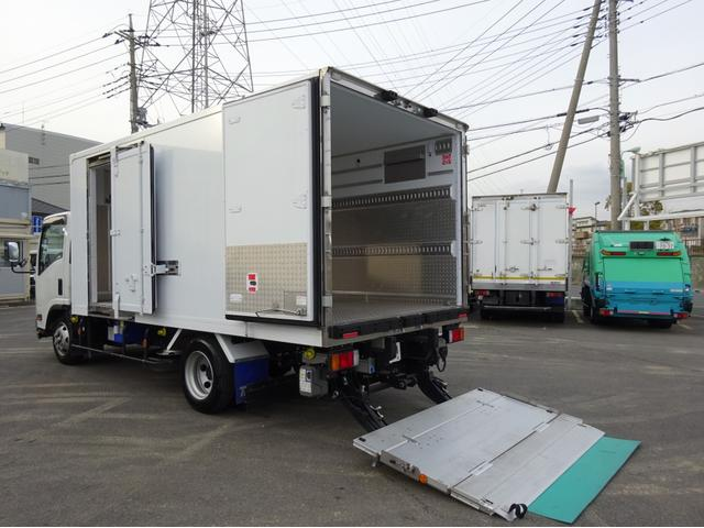 いすゞ 冷凍車 低温 パワーゲート付 ワイド ロング 3t積み