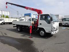 エルフトラック4段クレーン付 デジタル荷重計 標準幅 ロング 3t積み