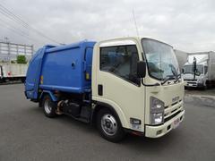 エルフトラック2t プレス式パッカー車 単独積込作動 汚水タンク付