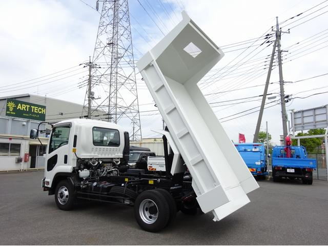 いすゞ Lゲートダンプ 新明和 フラッティゲート 3.7t