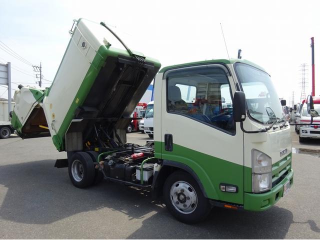いすゞ 2t パッカー車 回転板式 ダンプ排出 5m3 汚水タンク付