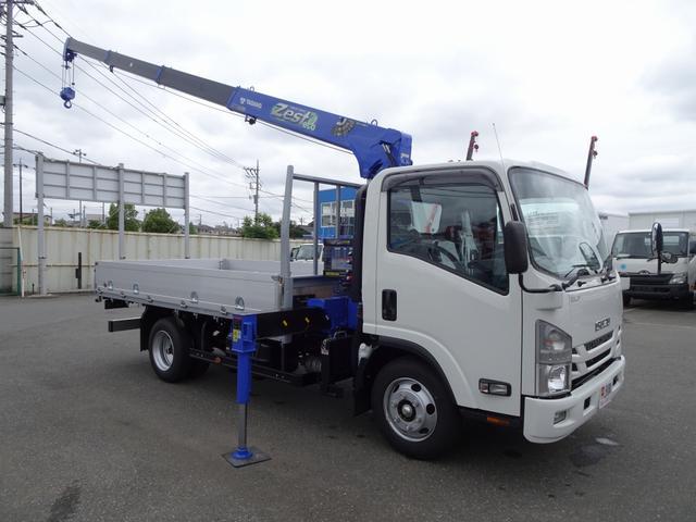 いすゞ クレーン付 タダノ 4段 アルミブロック平ボディ 3t積み