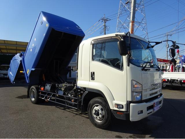 いすゞ 回転ダンプ式パッカー 8.4m3 増トン 4.5t積み