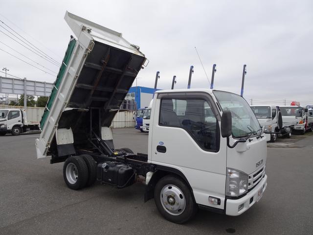 いすゞ 強化ダンプ 新明和工業 電動コボレーン付 2t積み