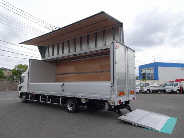 日野 レンジャー  アルミウイング 床下格納式パワーゲート付 7.2mボディ ワイド幅 ベッド付 1.9トン積載