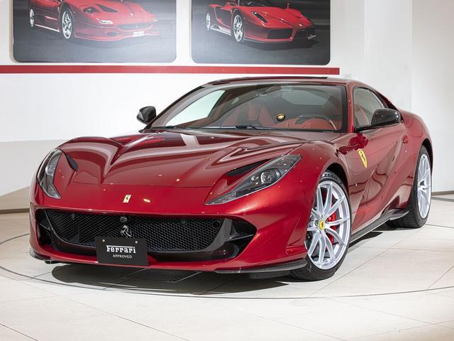 フェラーリ  スペシャルボディーカラー TDFスタイルアルミホイール チタンボルトカーボンLEDステアリング&ダッシュボード&センターブリッジ&フロントバンパーインサート