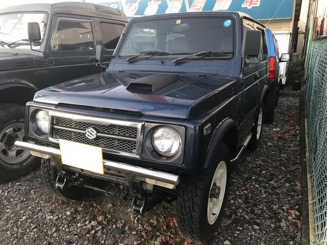 スズキ ランドベンチャー 4WD AC オーディオ付 AT 青