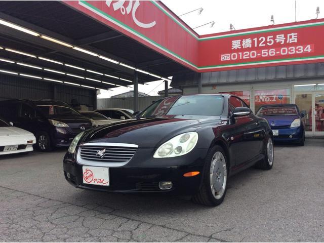 トヨタ 430SCV 黒革シート HID 電動オープン メーカーナビ