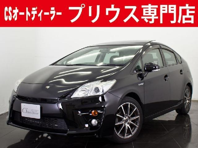 トヨタ G'sカスタム ソーラーパネルルーフ HDD 黒革調カバー