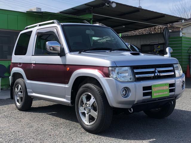 三菱 パジェロミニ エクシード 純正ナビ 4WD タイミングベルト交換 アルミホイール