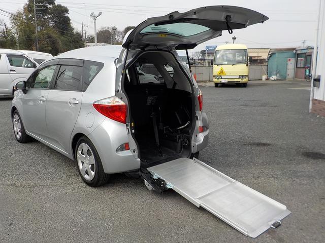 トヨタ X 福祉車両スロープ 電動固定 5人乗り ナビ Bカメラ
