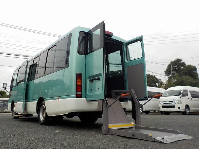 日産 シビリアンバス チェアキャブ リフタータイプ 福祉車両 消費税非課税 22人・車いす2脚 リアリフト 機械固定式 スイング自動ドア オートステップ ナビ Bカメラ