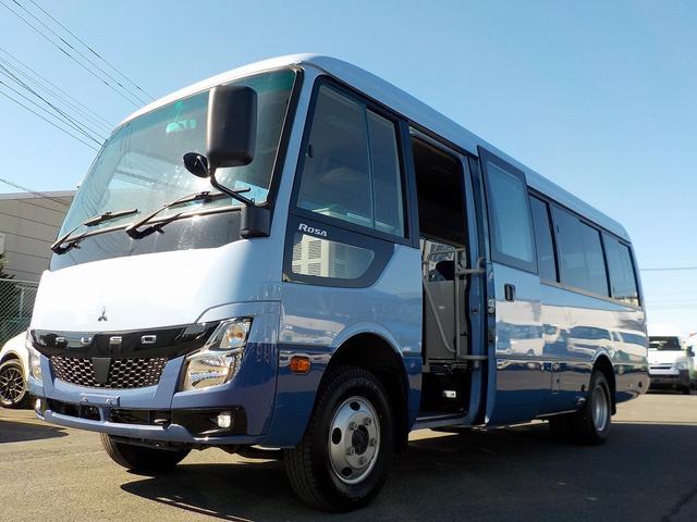 三菱ふそう アドバンス ロング 4WD スイング自動 冷蔵庫 28人乗り ナビ Bカメラ ETC モニタ 荷物棚