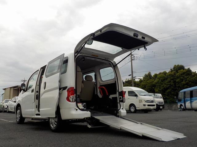 日産 アンシャンテ チェアキャブ スローパー 専用サードシート付き 福祉車両 6人・車いす1脚 電動固定式 オートステップ 手すり 走行2.6万km 消費税非課税