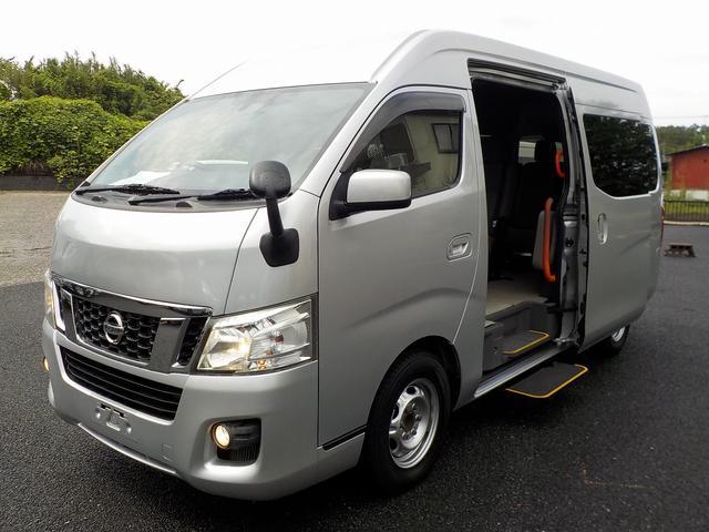 日産 NV350キャラバンワゴン アンシャンテ 送迎オートステップ 10人乗り 普通免許OK 自動ドア 手すり サイドステップ Bカメラ 走行4.6万km