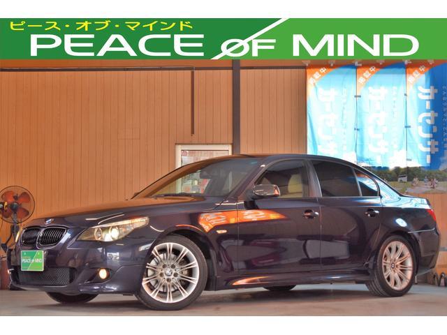 BMW 525i 25thアニバーサリーエディション 車検令和4年2月22日 専用18AW5分山エムスポ専用フルエアロ 電動本革シート 電動チルト クルコン プッシュスタート MTモード キーレス 走行42000キロ
