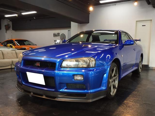 日産 GT-R VスペックII ベルサイドブルー 社外ナビ&TV
