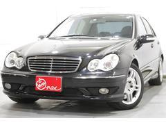 M・ベンツC32 AMG 当店買取車 黒革 サンルーフ 社外ナビTV