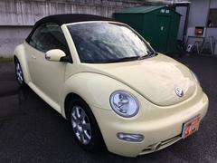 VW ニュービートルカブリオレベースグレード カブリオレ ワンオーナー 黒革シート ETC