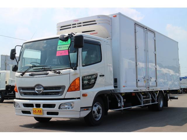 日野 冷凍冷蔵車 ワイド6.2m サイド観音 格納パワーゲート
