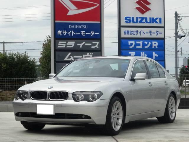 BMW 735i 右ハンドル 禁煙車 サンルーフ 屋根付保管車 黒革