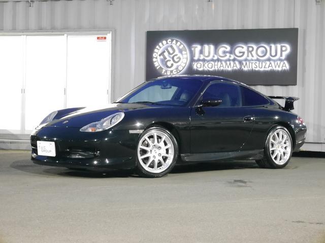 ポルシェ 996カレラ4 オール黒レザー ナビ GT3仕様 2年保証付