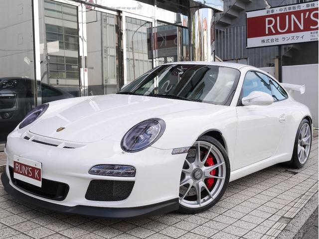 ポルシェ 911 911GT33.8クラブスポーツ スポーツクロノPKG カーボン製軽量スポーツバケットシート PDLS(ダイナミックコーナーリングライト)クルコン LEDテール GT3専用19インチセンターロックAW