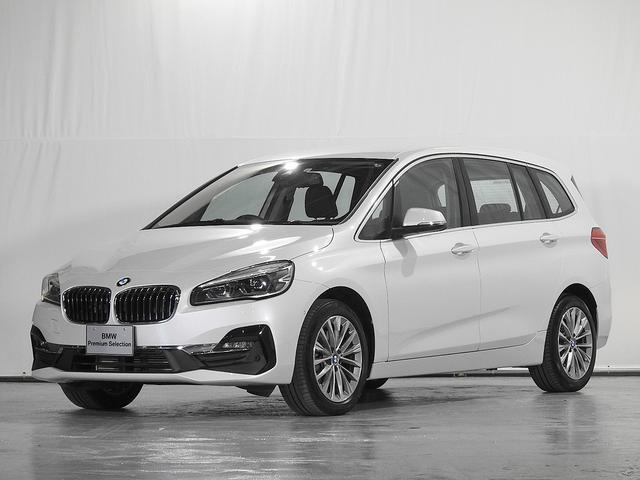 BMW 218dグランツアラー ラグジュアリー リアカメラ レザーシート 電動シート シートヒーター 駐車アシスト ACC ドライビングアシスト 前後PDC LED 17inアルミ 認定中古車