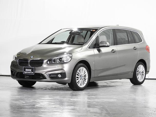 BMW 218iグランツアラー ラグジュアリー CD HDDナビ 電動レザーシート リアカメラ 前後センサー ヘッドアップD アクティブクルーズC シートヒーター 電動リアゲート コンフォートアクセス 17インチAW 認定中古車